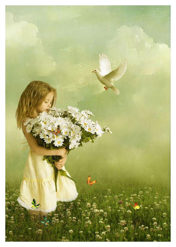*Douceur - Nature § Jolie fillette et des fleurs*