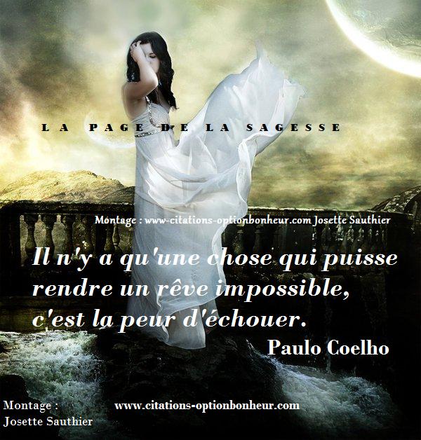 Belle citation de P. Coelho / Bonne soirée