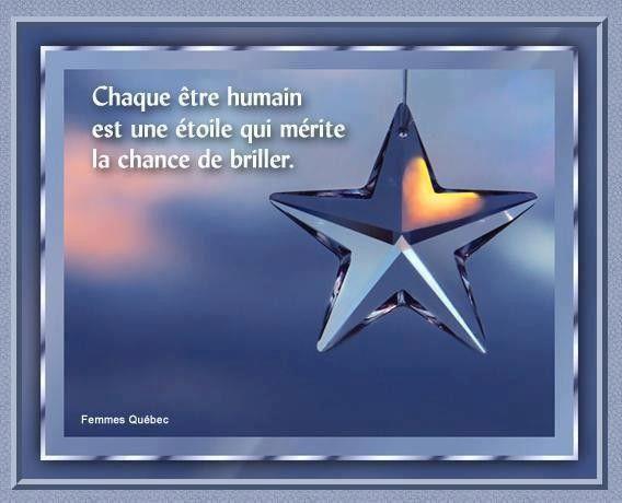 Etoile / Une belle citation § Bon mercredi.