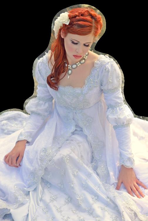 En blanc, belle femme - romantique, blanc §