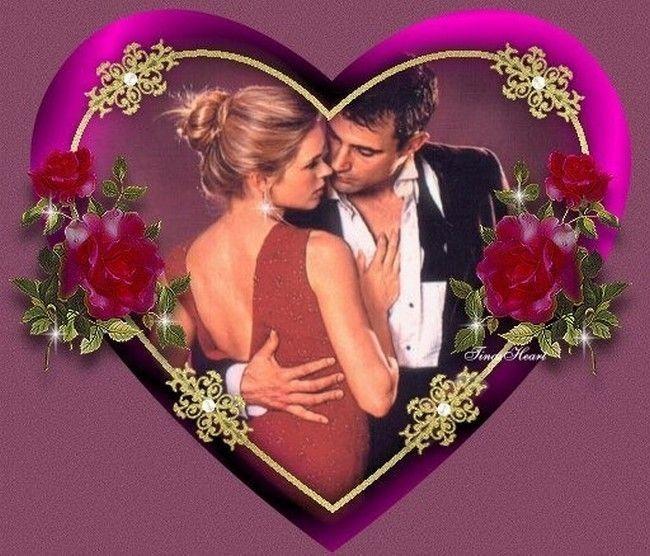 Un coeur couple romantique roses et chanson - Coeur d amoureux ...