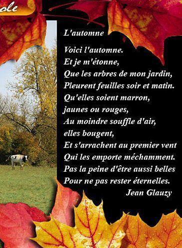 Image nature po me de jean glauzy sur l 39 automne - Date de l automne ...