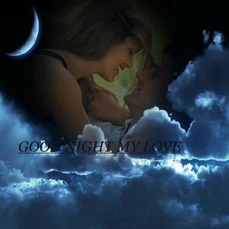 Romantiquecouple Amoureux Nuages Bonne Nuit