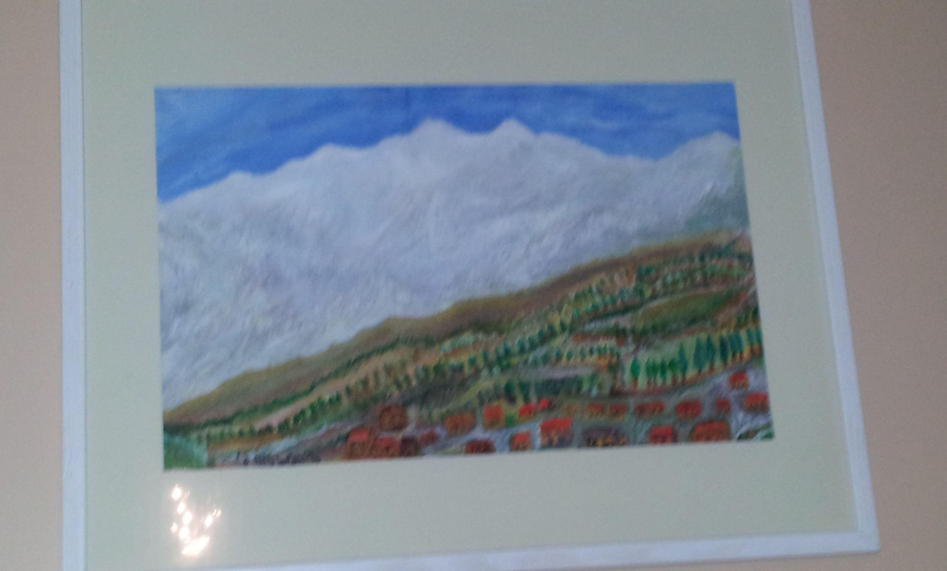 Peinture Sur M Lamin Blanc Le Montblanc Sur Toile